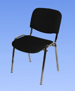 3001 - chrome upholstered chairs