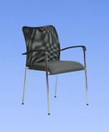 3004 - židle chromová, plast