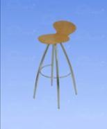 3032 - bar stool, wood