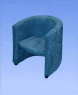 3103 - suede chair, blue