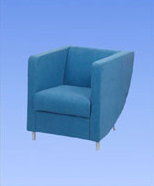 3108 - suede chair, blue