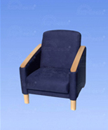 3127 - suede chair, blue