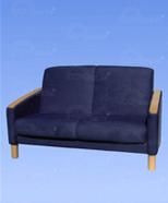3127 - suede sofa, blue
