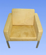 3131 - suede chair, yellow