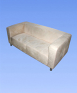 3132 - suede sofa, yellow
