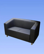 3133 - Leather sofa