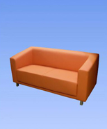3134 - Leather sofa