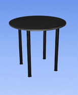 3213 - Table of laminate, black