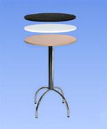 3241 - bar table, white / black / wood